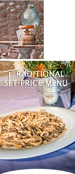 Ristorante degli Orti is a typical trattoria with a set-price menu