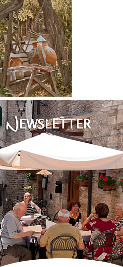 Sign up for the Ristorante degli Orti Assisi newsletter