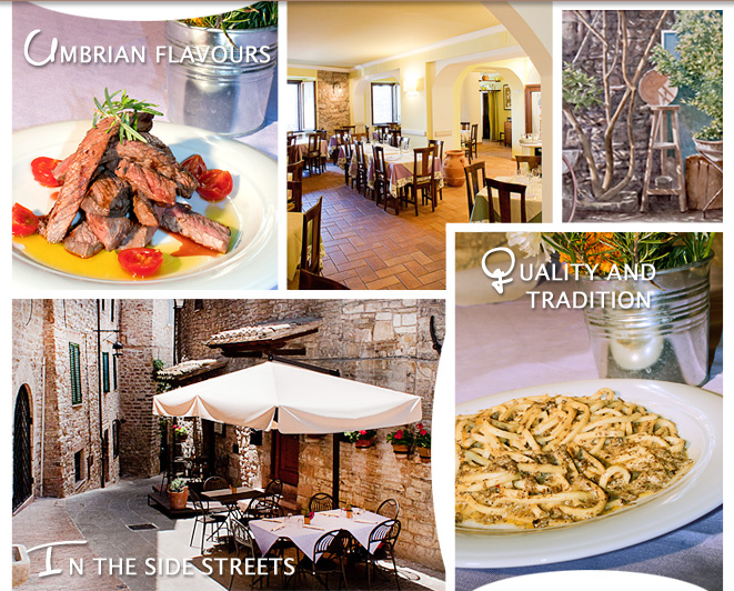 One of Assisi's best restaurants. Typical Umbrian cuisine revisited. Guests can dine outside in the little square.
